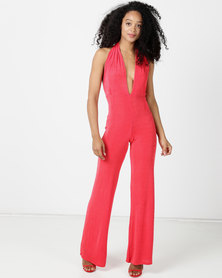 Sissy Boy Rhyme Multi-wrap Jumpsuit Tangerine