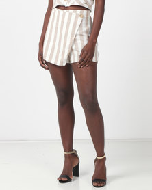 Sissy Boy Skidaddle Stone/Off White Skorts-Set