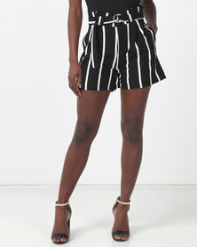 Sissy Boy Speedy Off White/Black Stripe Shorts