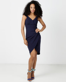 Sissy Boy Neptune Bardot Midi Dress Navy