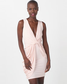 Sissy Boy Ok Then Deep V Club Pink Mist Dress