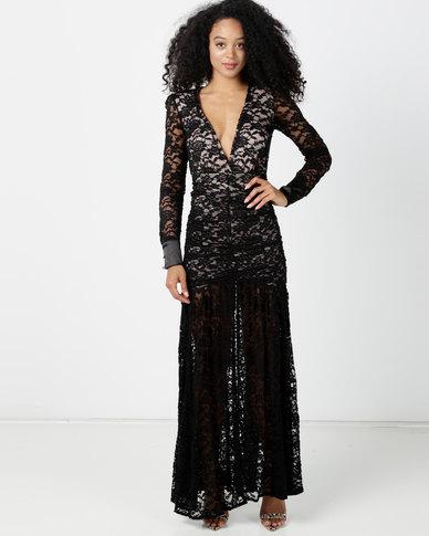Sissy Boy Organic Lace Maxi Dress Black