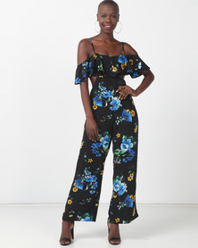 Sissy Boy Carefree Black Printed Jumpsuit