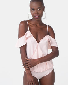 Sissy Boy Mystical Petal Pink Bodysuit Blouse