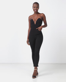 Sissy Boy Requests Black V Wire Jumpsuit