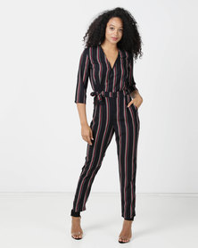 Sissy Boy Lezly Printed Stripe Jumpsuit