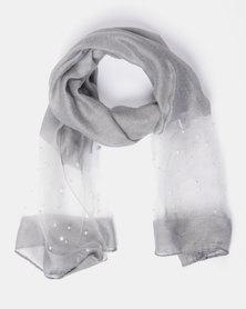 Queenspark Pearl Foil Scarf Silver