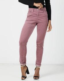 Queenspark Corduroy Trousers Pink