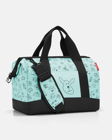Reisenthel water-repellent premium-quality polyester allrounder M kids cats and dogs mint travel bag