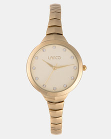Lanco Ladies Watch Alloy Case and Bracelet Gold-tone