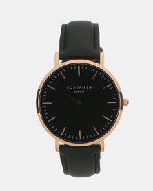 Rosefield The Bowery Watch Black
