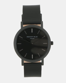 Rosefield The Gramercy Watch Black