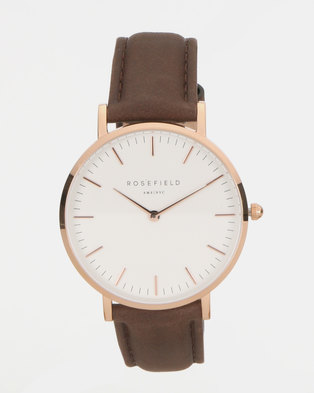 Rosefield The Bowery Watch Brown