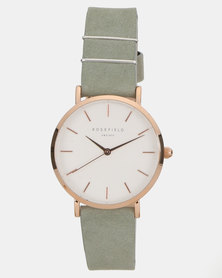 Rosefield The West Village 33mm Watch Mint Grey Rosegold