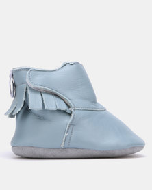 Shooshoos Coming Wave Fleece Winter Bootie Blue
