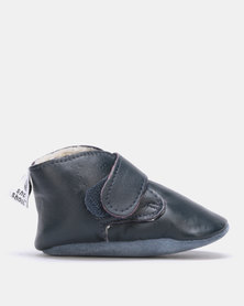Shooshoos Space Station Fleece Winter Bootie Blue