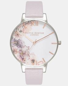 Olivia Burton Watercolour Florals Watch Grey
