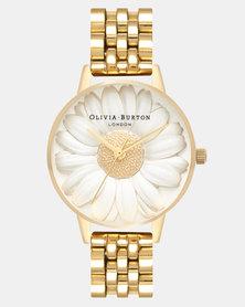 Olivia Burton 3D Daisy Watch Gold