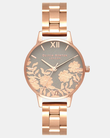 Olivia Burton Lace Detail Watch Gold