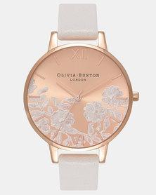 Olivia Burton Lace Detail Watch White
