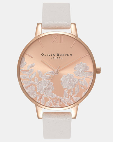 Olivia Burton Lace Detail Watch White
