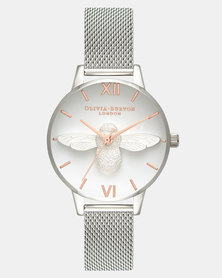 Olivia Burton 3D Bee Watch Silver
