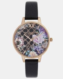 Olivia Burton Glasshouse Watch Black