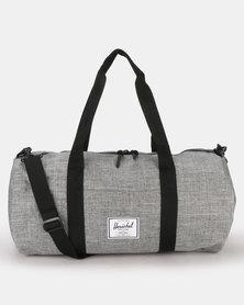 Herschel Sutton Mid-Volume Duffle Bag Raven Crosshatch/Black
