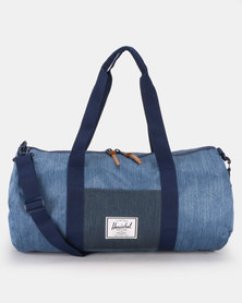 Herschel Sutton Mid-Volume Duffle Bag Faded Denim/Indigo Denim