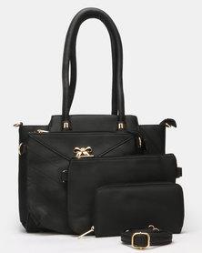 Blackcherry Bag Set of 4 Bags Black
