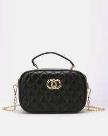Blackcherry Bag Quilted Handbag Black