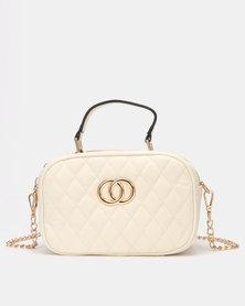 Blackcherry Bag Quilted Handbag White