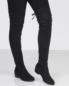 Madison Cody Over the Knee Boots Black