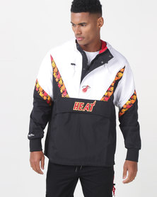 Mitchell & Ness NBA Half Zip Miami Heat Anorak Black
