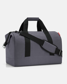 Reisenthel water-repellent premium-quality polyester allrounder L graphite travel bag