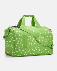 Reisenthel water-repellent premium-quality polyester allrounder L spots green travel bag