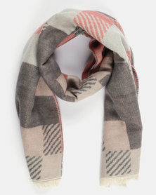 All Heart Check Blanket Scarf Multi