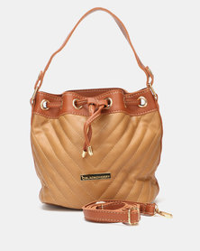Blackcherry Bag Drawstring Bucket Bag Camel