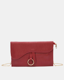 Blackcherry Bag Saddle Crossbody Bag Dark Red
