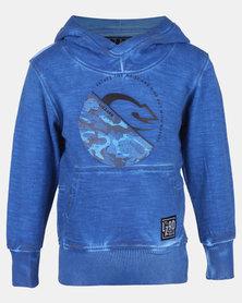 Lizzard Bindi Snorkel Tots Pullover Hoodie Blue