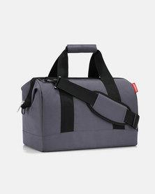 Reisenthel water-repellent premium-quality polyester allrounder M graphite travel bag