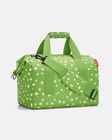 Reisenthel water-repellent premium-quality polyester allrounder M spots green travel bag