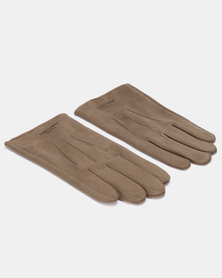 Blackchilli Faux Suede Gloves Khaki