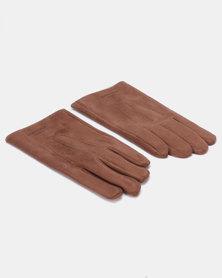 Blackchilli Faux Suede Gloves Brown