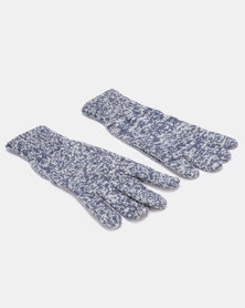 Blackchilli Cozy Knitt Gloves Mottled Blue