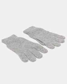 Blackchilli Cozy Knitt Gloves Mottled Light Grey