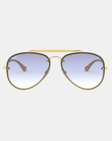 Ray-Ban Blaze Aviator Sunglasses Gold