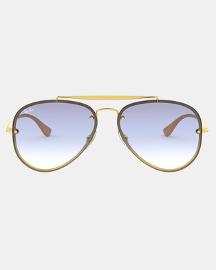 Ray-Ban Blaze Aviator Sunglasses Gold