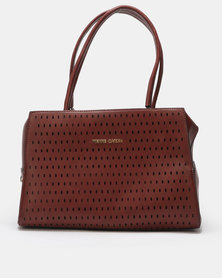 Pierre Cardin Lena Maroon Barrel Bag Burgundy