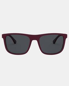 Emporio Armani 0EA4129 Sunglasses Matte Bordeaux